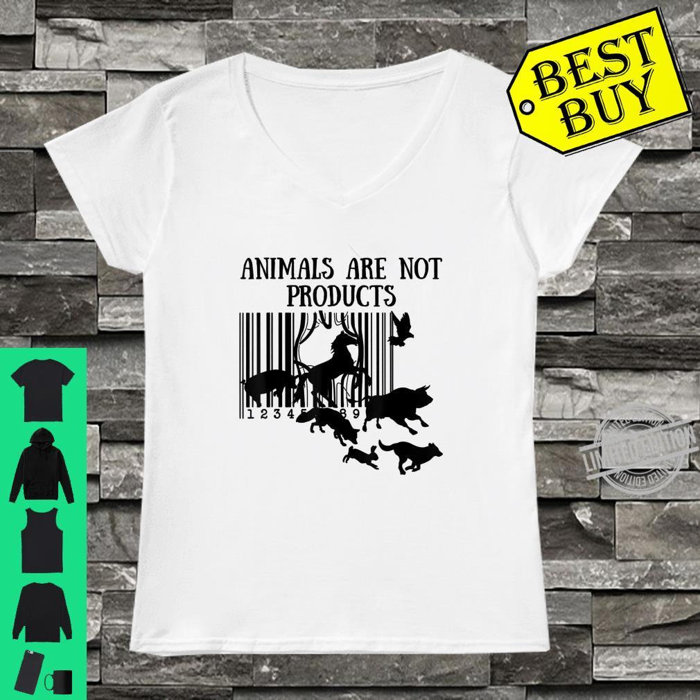 Animals Are Not Products Love Animal Earth Day Shirt ladies tee