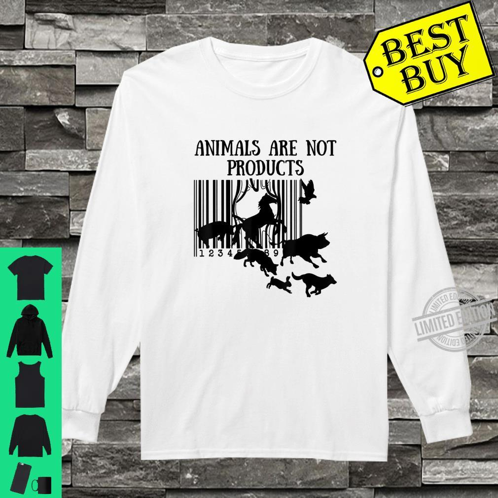 Animals Are Not Products Love Animal Earth Day Shirt long sleeved