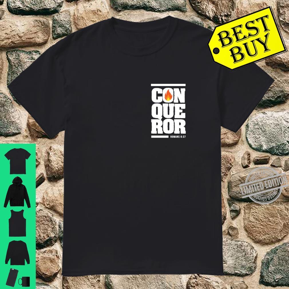 Christian gift bible verse inspirational Conqueror Shirt