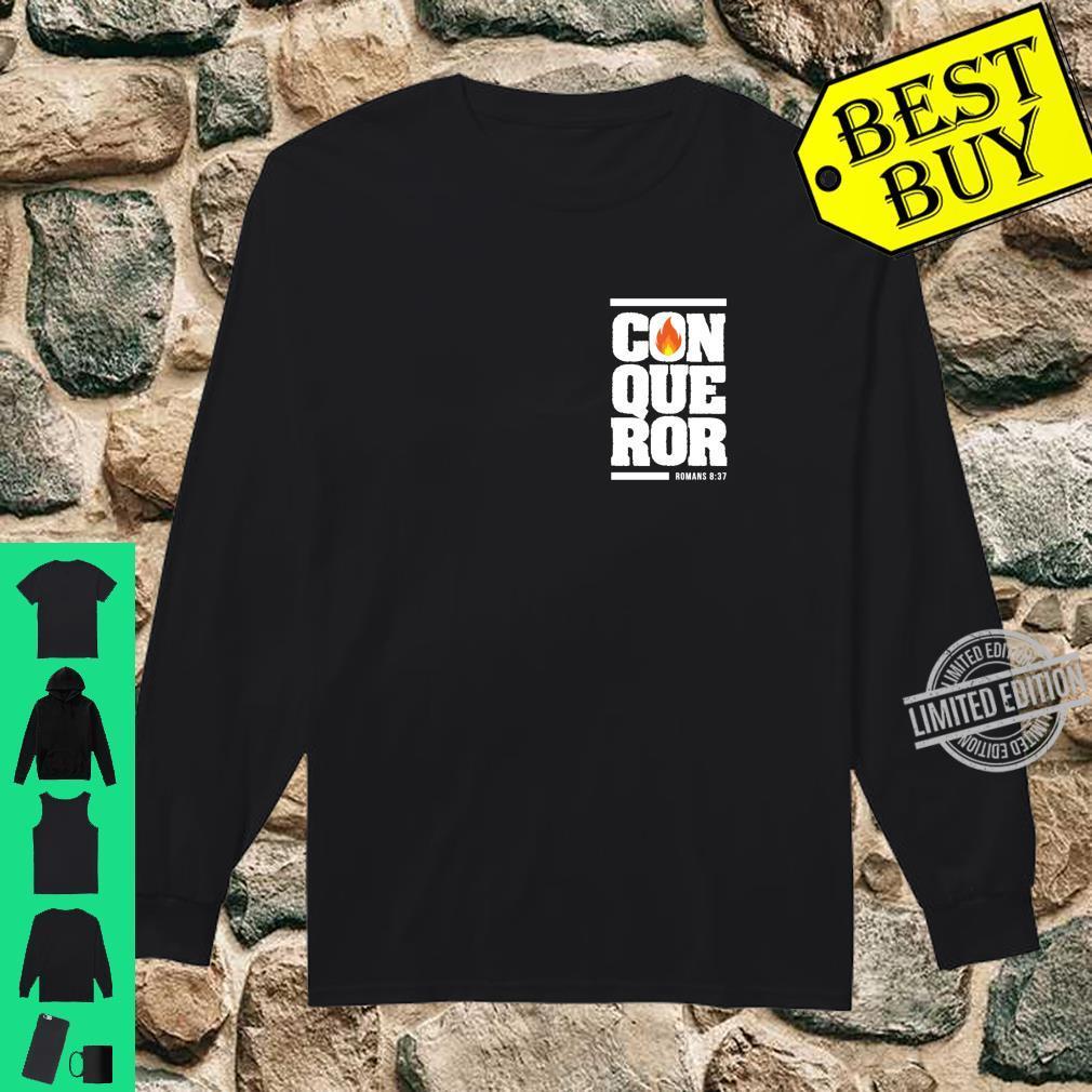 Christian gift bible verse inspirational Conqueror Shirt long sleeved