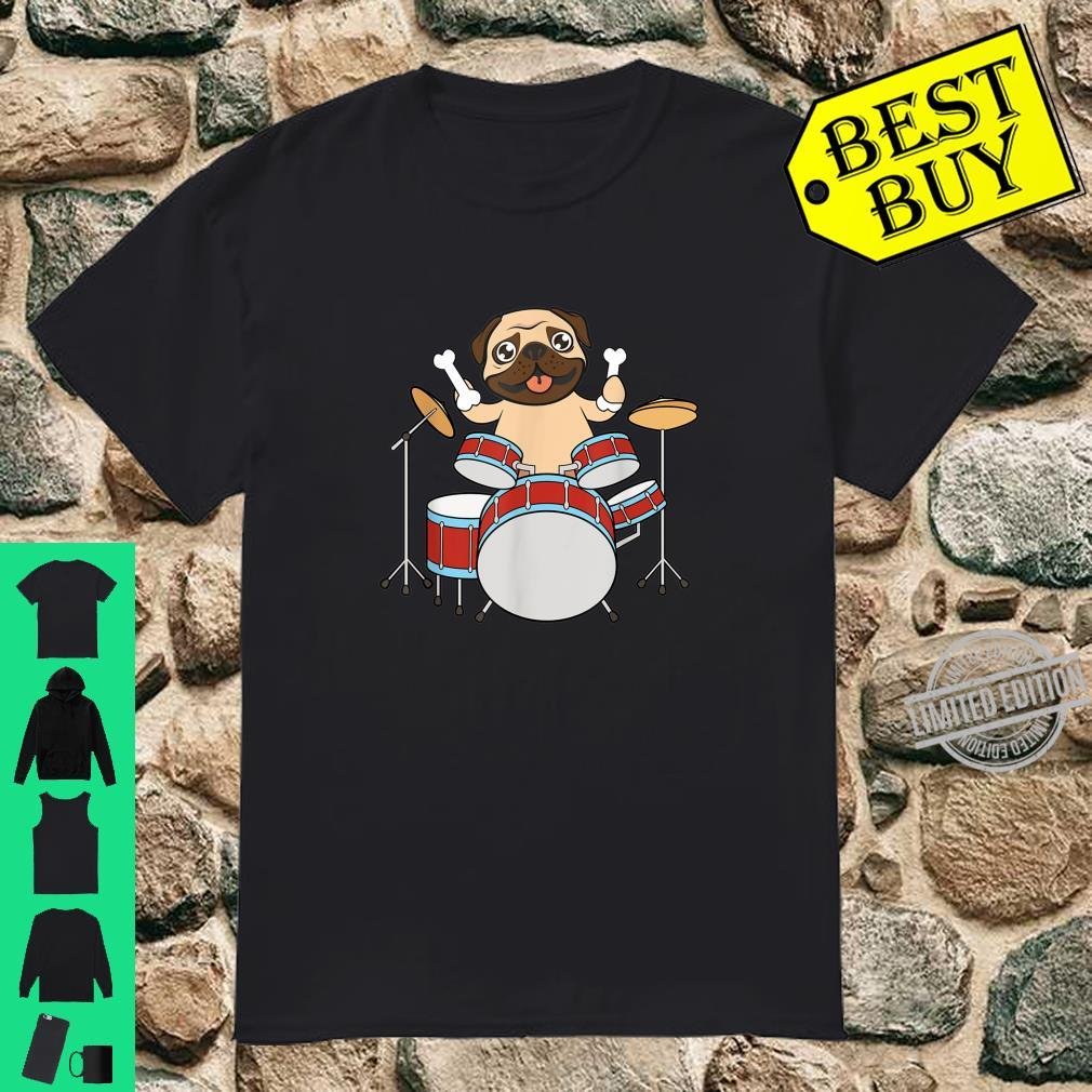 Dog Playing Drum With Bone Rock And Roll Shirt