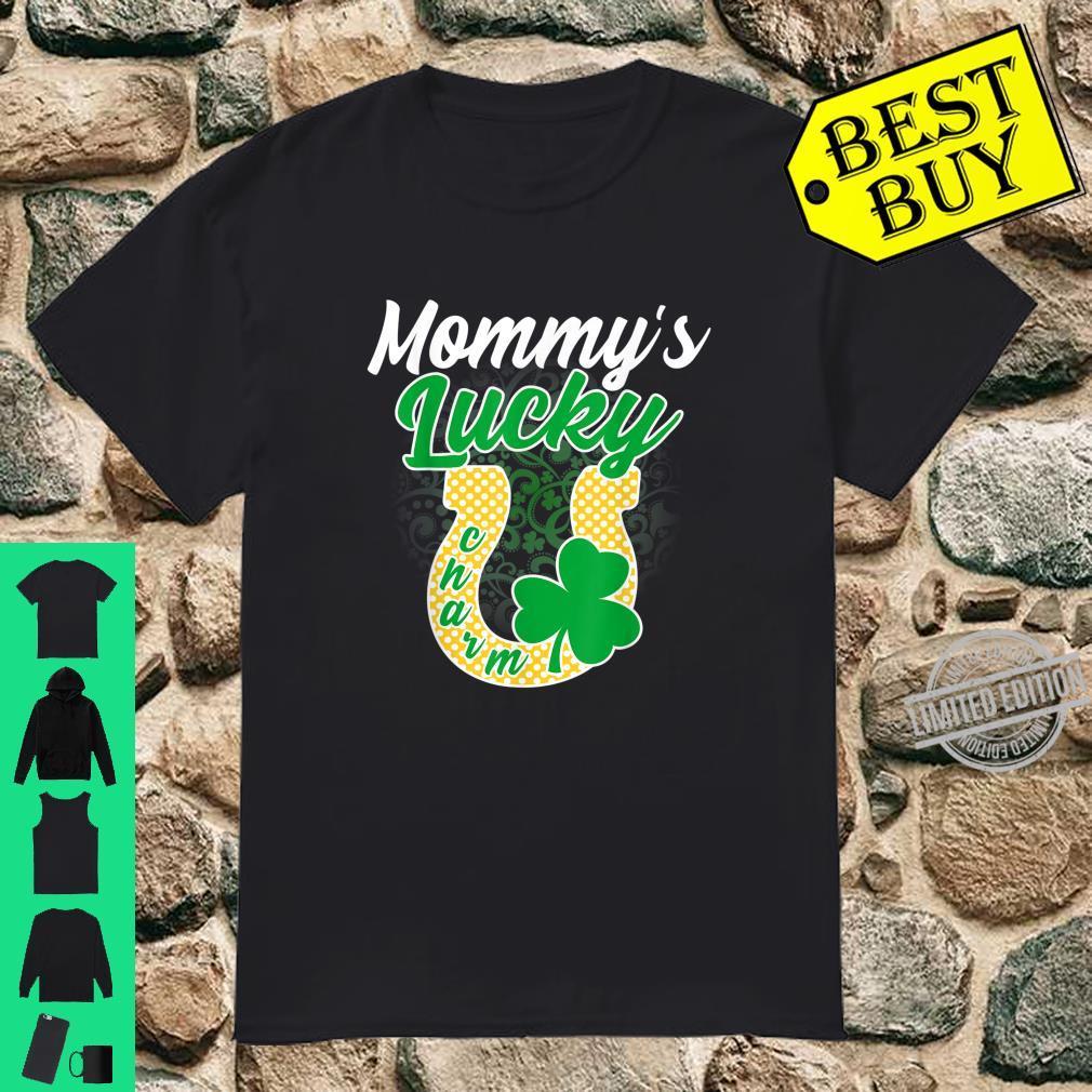 Funny Mommy's Lucky Charm Shamrock St Patricks Day Shirt