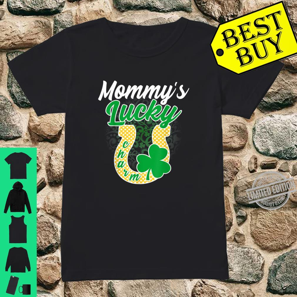 Funny Mommy's Lucky Charm Shamrock St Patricks Day Shirt ladies tee