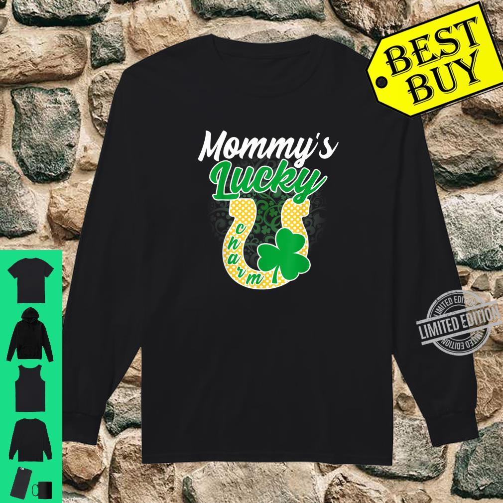 Funny Mommy's Lucky Charm Shamrock St Patricks Day Shirt long sleeved
