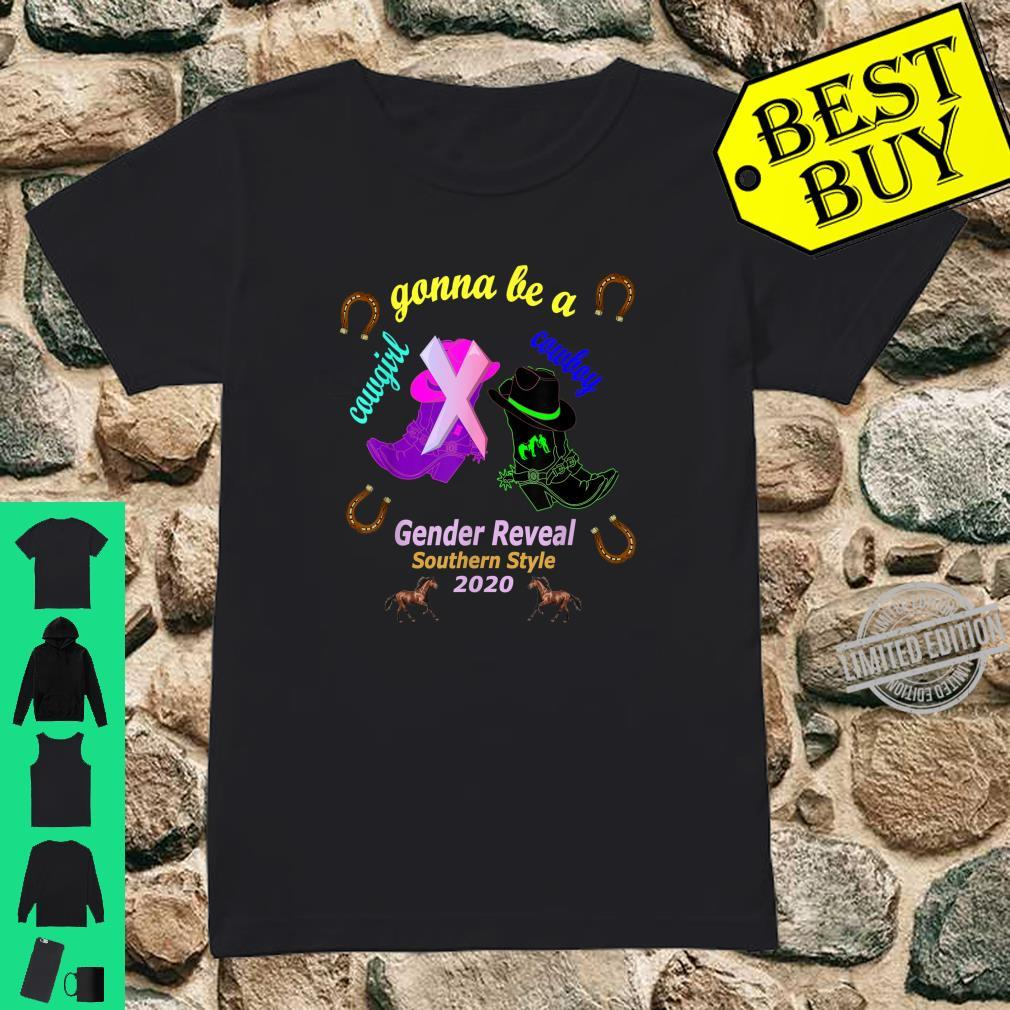 Gender Reveal Party Gonna Be Cowboy Cowgirl Southern Style Shirt ladies tee