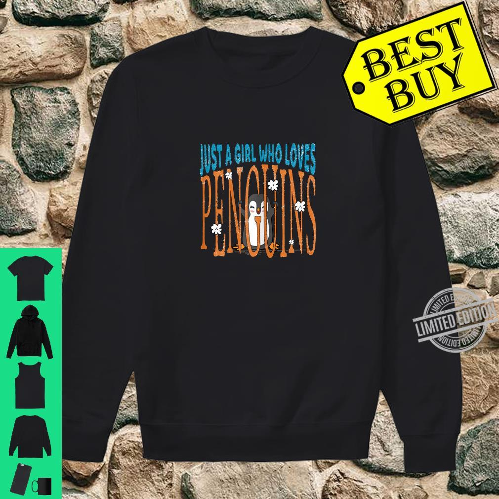 Just a Girl Who Loves Penguins Penguin Shirt sweater