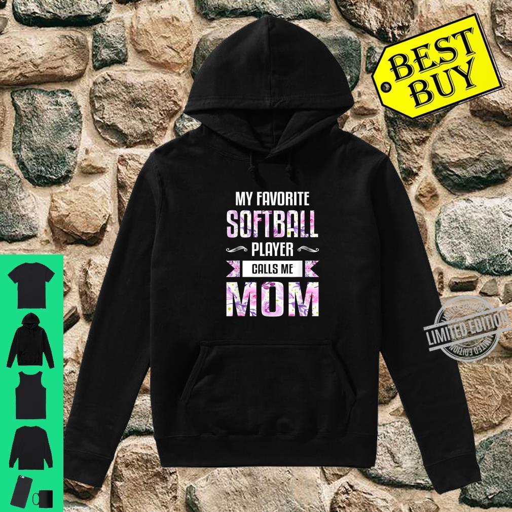 Mom Shirt Floral Softball Mom Shirt hoodie