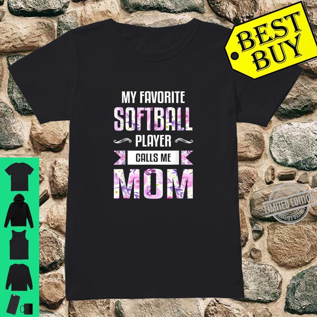 Mom Shirt Floral Softball Mom Shirt ladies tee