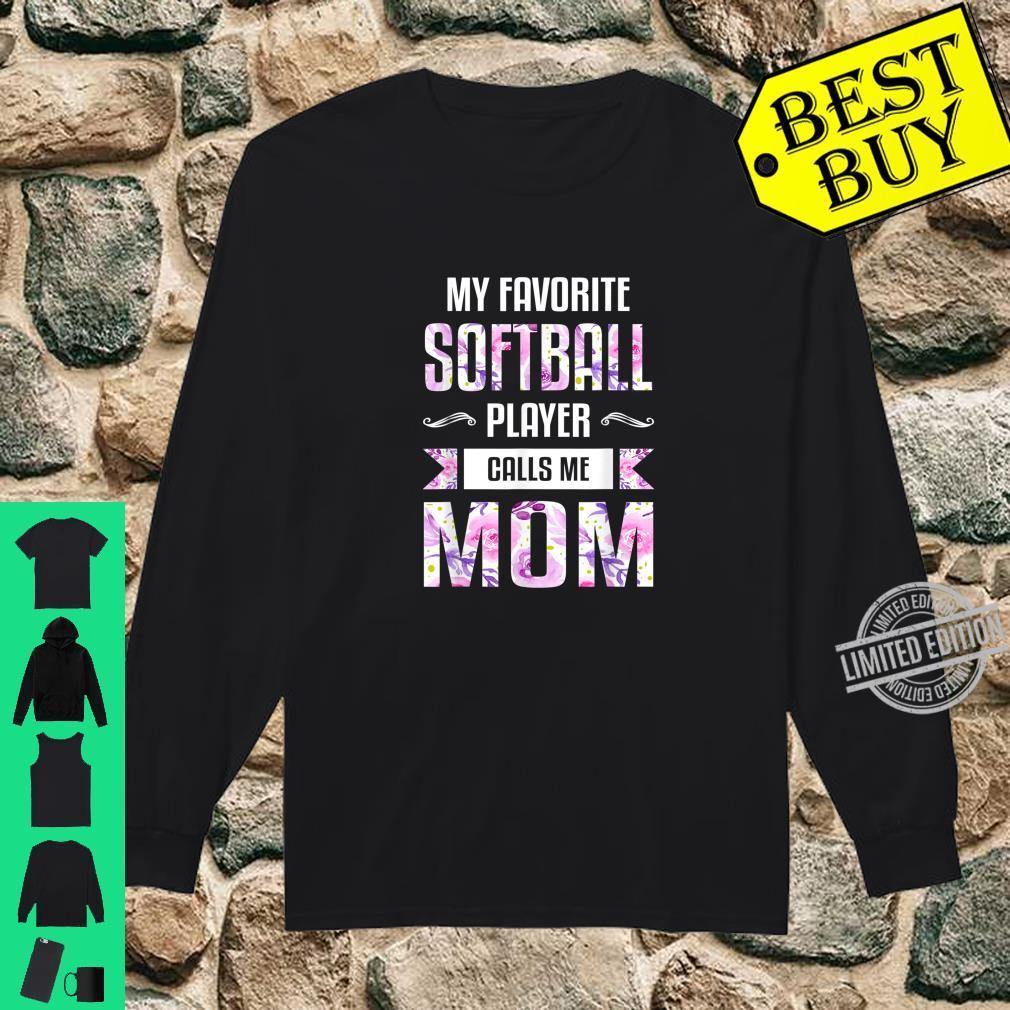 Mom Shirt Floral Softball Mom Shirt long sleeved