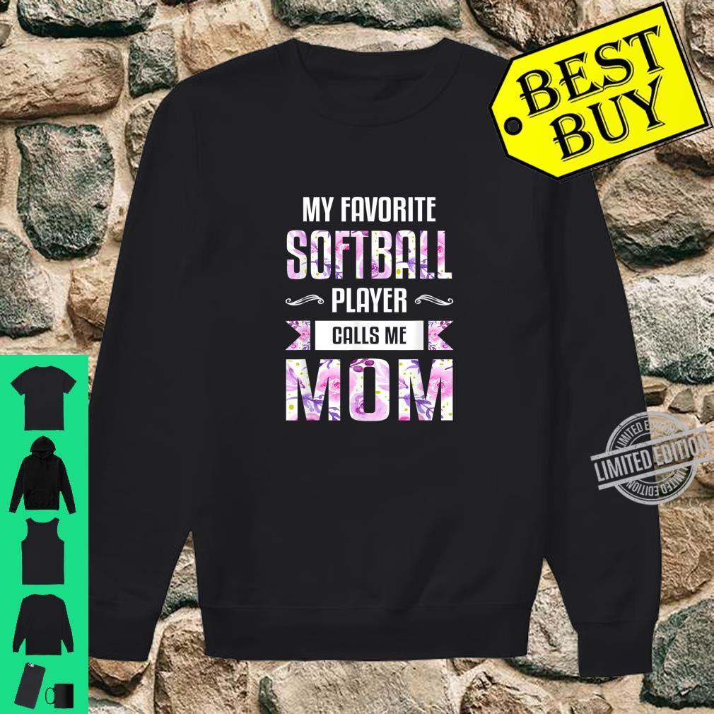 Mom Shirt Floral Softball Mom Shirt sweater