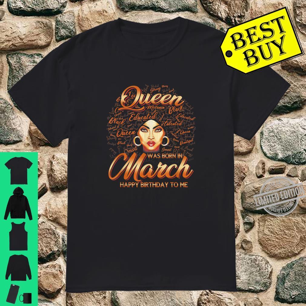 Pisces Girls Black Queen Best February March Birthday Shirt