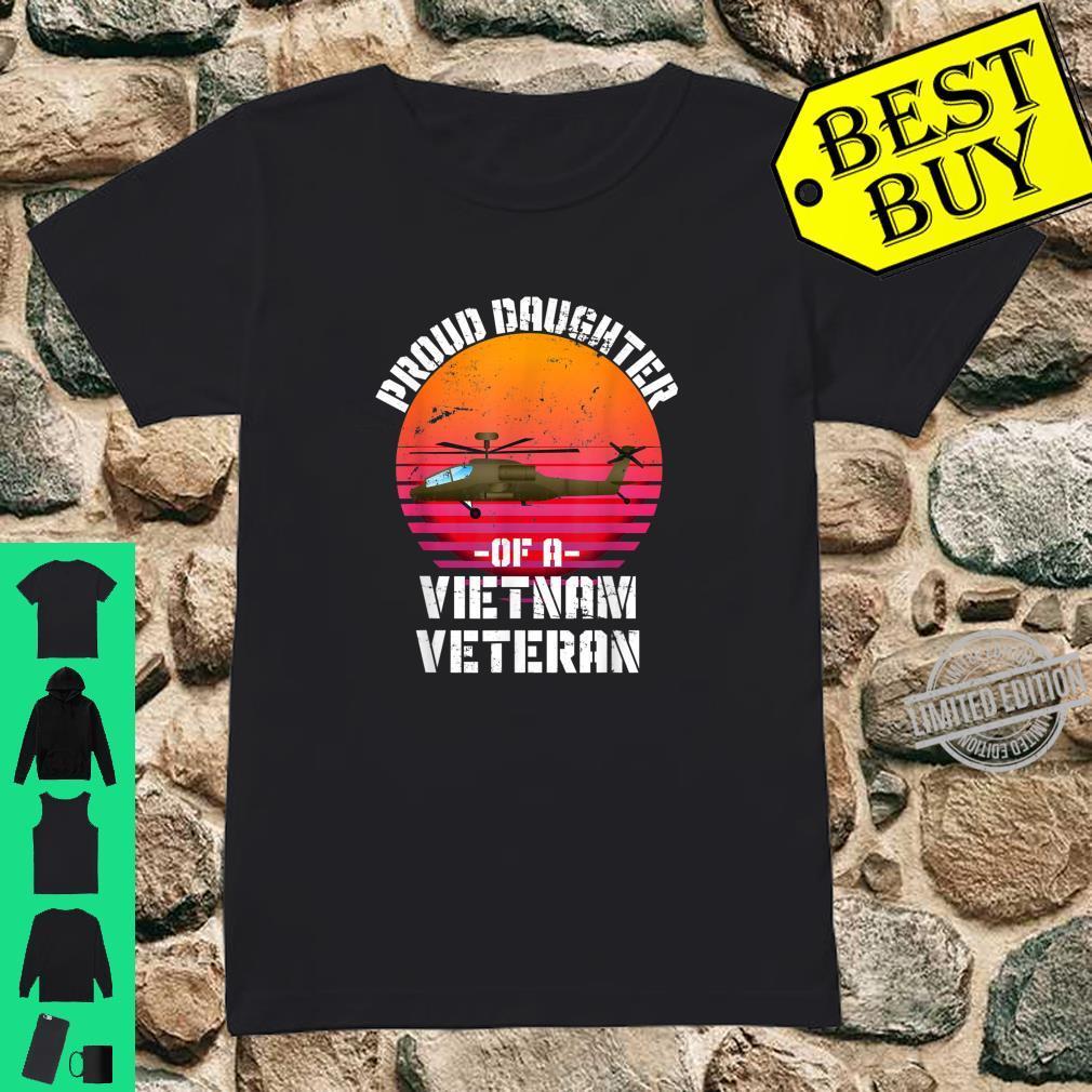 Proud Daughter Of A Vietnam Veteran Shirt ladies tee