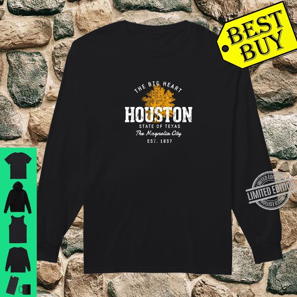 Retro Style Vintage Houston Shirt long sleeved