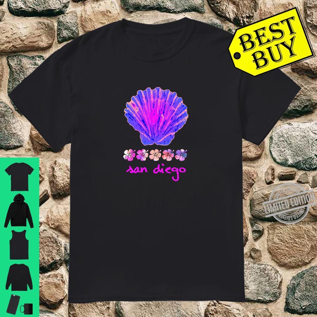 Santa Monica Beach Tropical Hibiscus Surf Ocean Travel Vacay Shirt