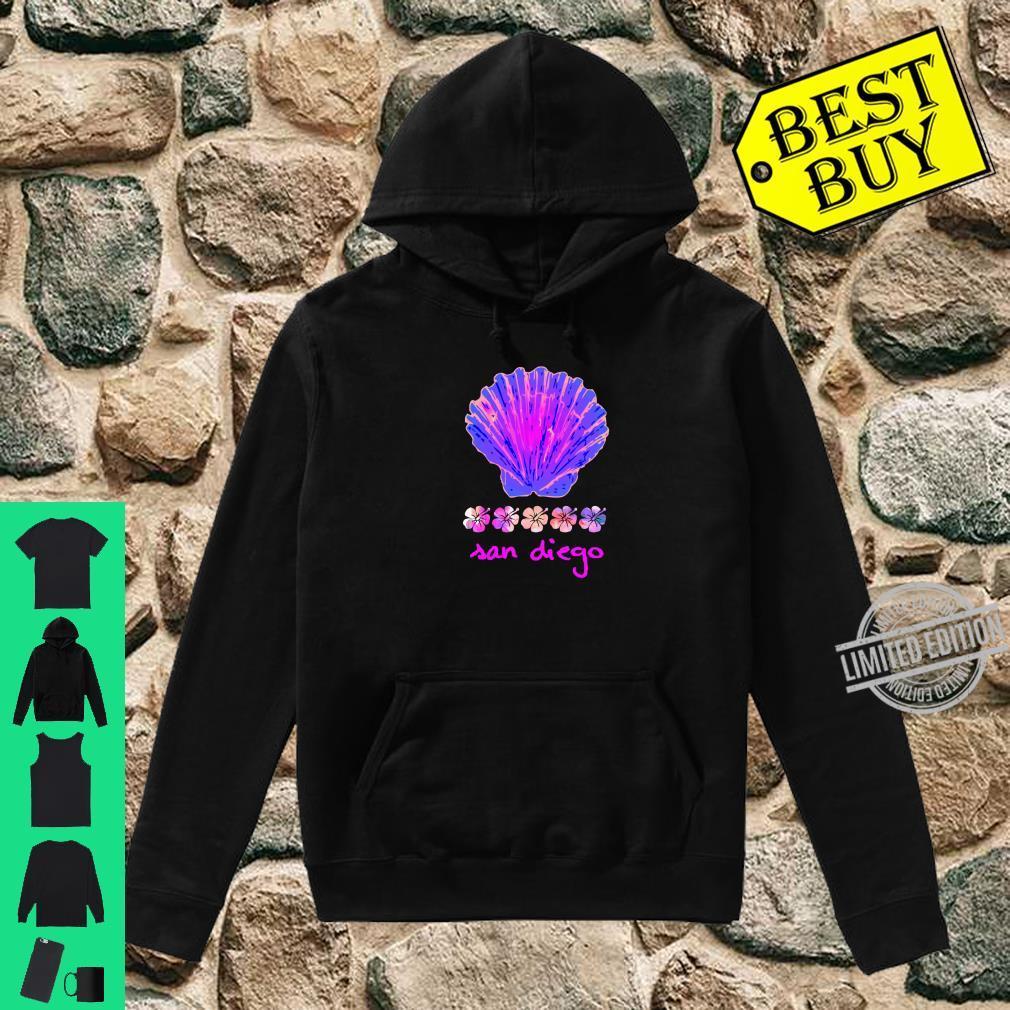 Santa Monica Beach Tropical Hibiscus Surf Ocean Travel Vacay Shirt hoodie