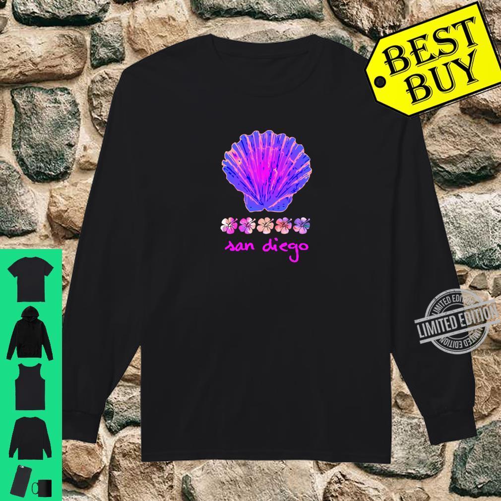 Santa Monica Beach Tropical Hibiscus Surf Ocean Travel Vacay Shirt long sleeved