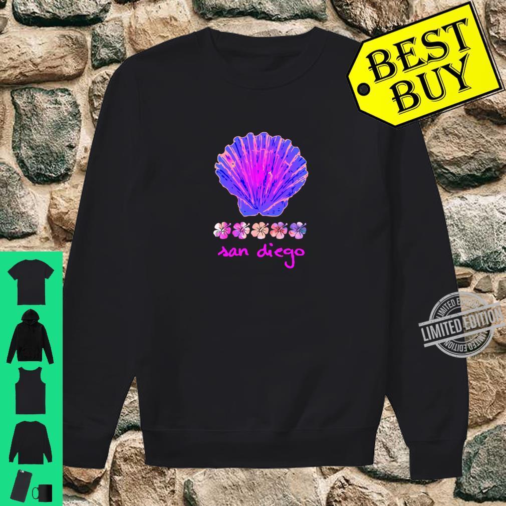 Santa Monica Beach Tropical Hibiscus Surf Ocean Travel Vacay Shirt sweater