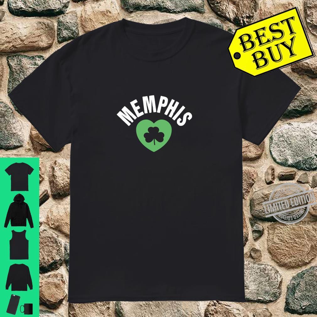 St Patricks Memphis TN Green Heart Irish Saint Pattys Lucky Shirt