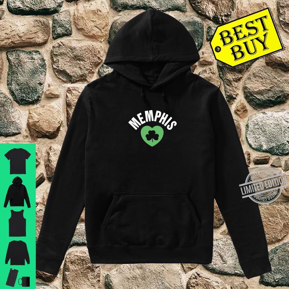St Patricks Memphis TN Green Heart Irish Saint Pattys Lucky Shirt hoodie
