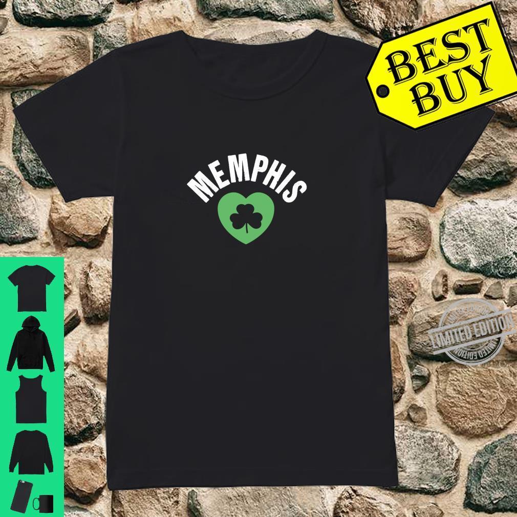 St Patricks Memphis TN Green Heart Irish Saint Pattys Lucky Shirt ladies tee