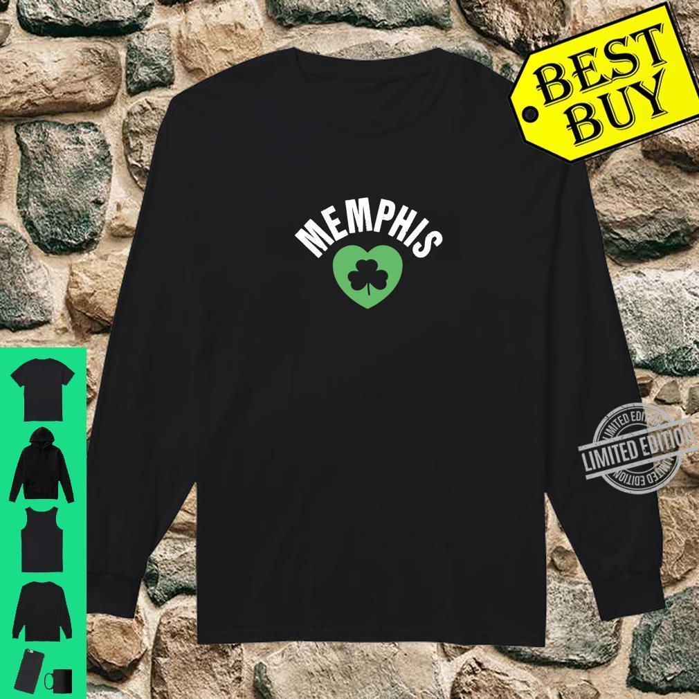 St Patricks Memphis TN Green Heart Irish Saint Pattys Lucky Shirt long sleeved